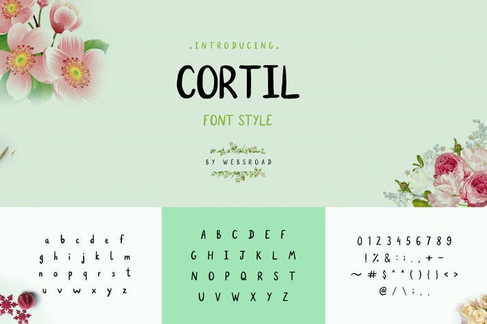 Thumbnail for Cortil - Handmade Font Style