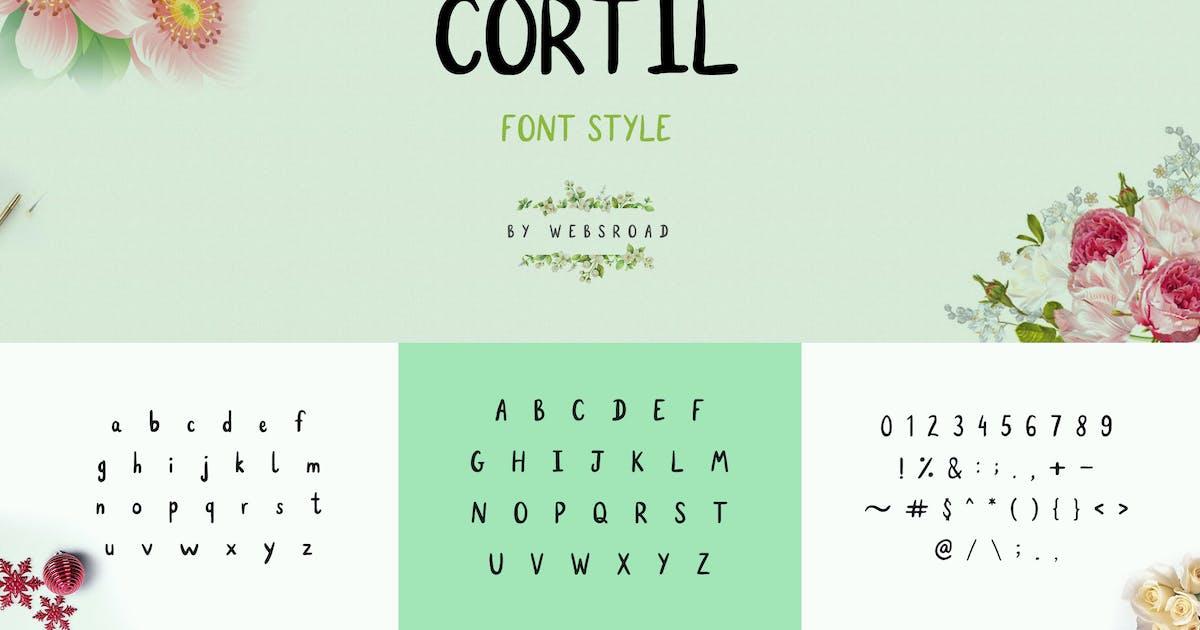 Download Cortil - Handmade Font Style by websroad