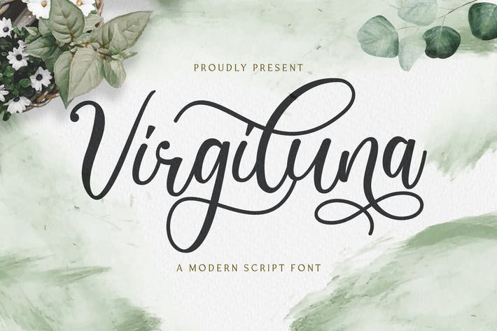 Thumbnail for Virgiluna - Modern Calligraphy Font