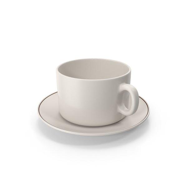 Чашка с тарелкой пустая