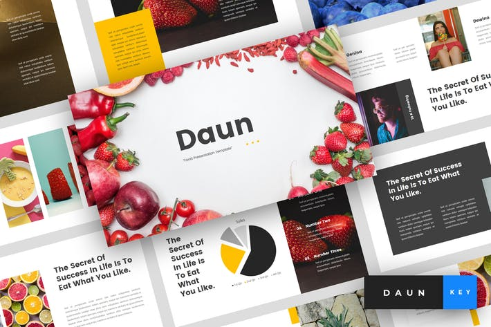 Thumbnail for Daun - Food Keynote Template