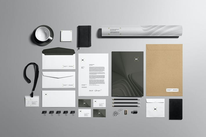 Thumbnail for Business Stationery Branding Mockup