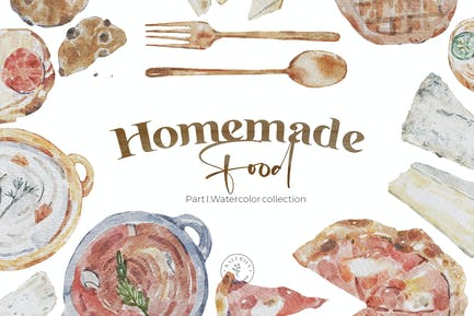 Homemade Food - Watercolor Autumn Tasty Collection