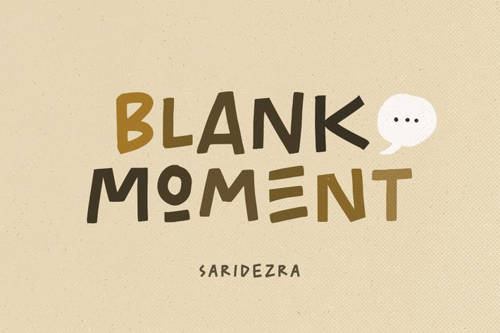Thumbnail for Blank Moment - Quotable Font