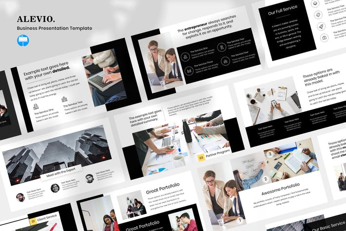 Thumbnail for Alevio - Business Presentation Keynote Template