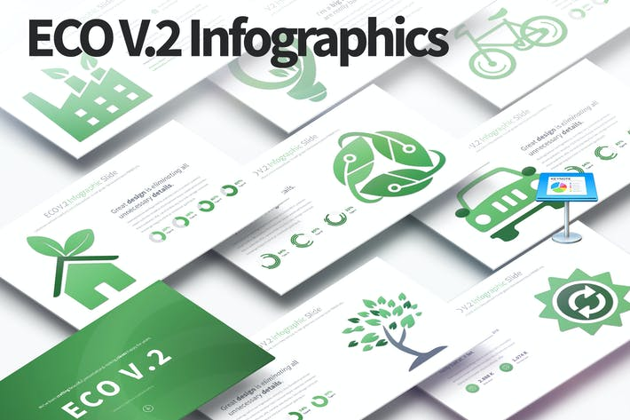 Thumbnail for ECO V.2 - Keynote Infographics Slides