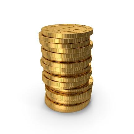 Stapel von Bitcoins