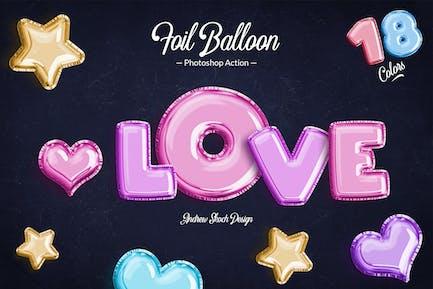 Фольга воздушный шар - Photoshop Action