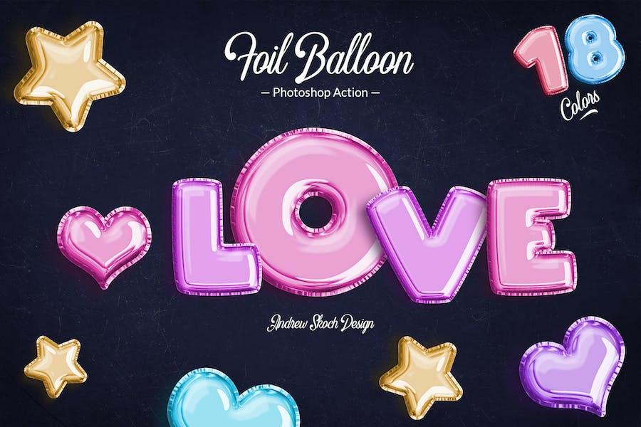 Foil Balloon - Photoshop Action
