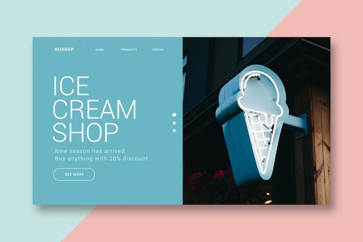Thumbnail for Ice Cream Shop - Landing Page