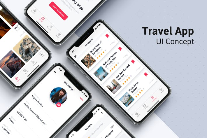Thumbnail for My Trip UI screen for Travel App
