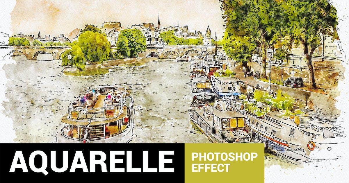 Download Aquarelleum - Urban Sketch Photoshop Action by profactions
