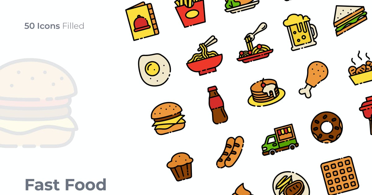 Download Fast Food Filled Icon by GoodWare_Std