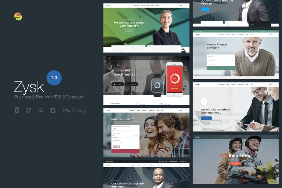 Zysk - Business & Finance HTML5-Vorlage