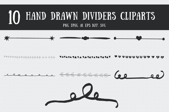 Thumbnail for 10 Handmade Dividers Cliparts