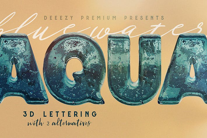 Cover Image For Aqua – 3D Lettering