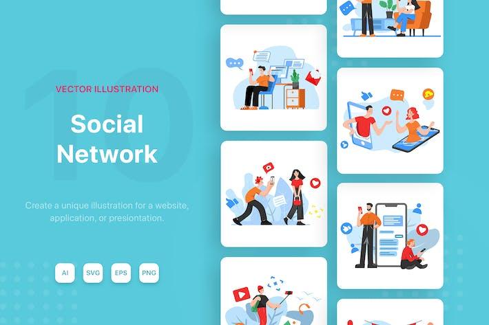 Thumbnail for Social Network Vector Illustrations