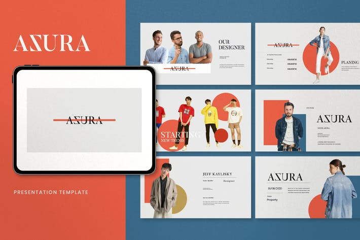 Thumbnail for Azura - Minimal Fashion Google Slides