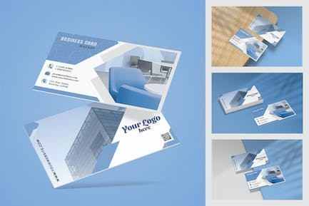 Business card mockup for brand identity