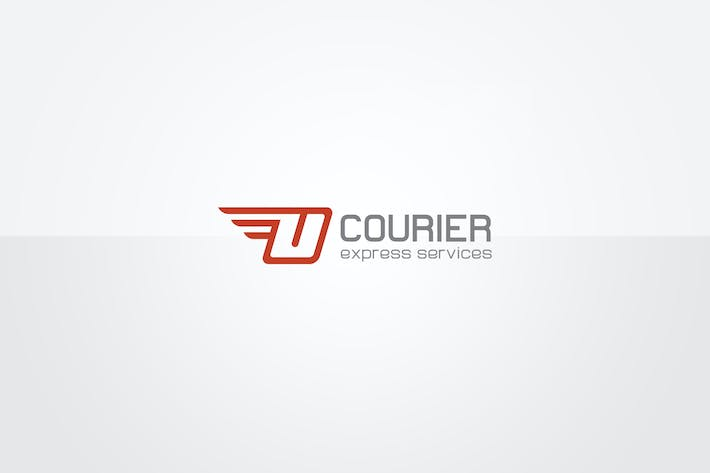 Cover Image For Courier Logo Template