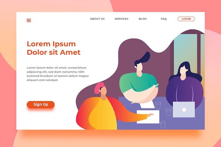 Thumbnail for Teamwork - Header Landing Page