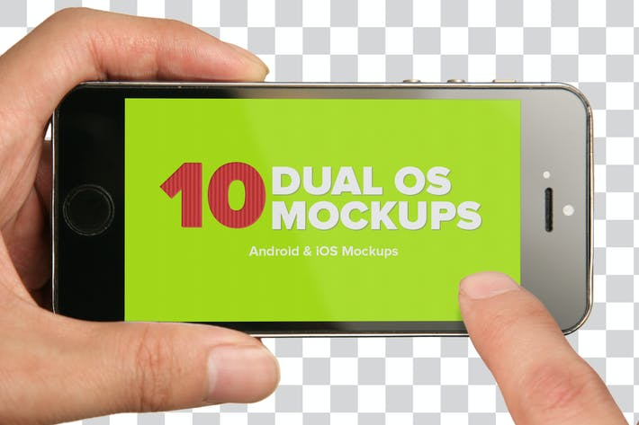 Thumbnail for 10 Dual iOS & Android Mockups