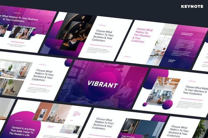 Thumbnail for Vibrant - Creative Keynote Template