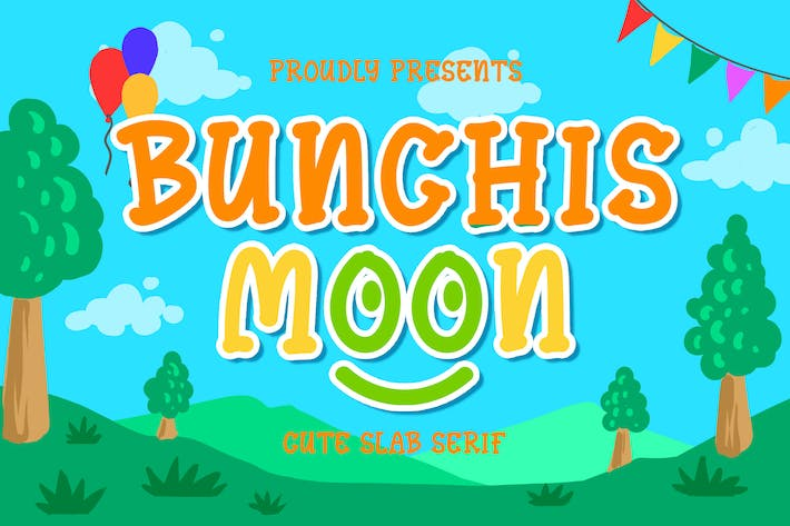 Thumbnail for Bunchis Moon - Cute Slab Serif Typeface