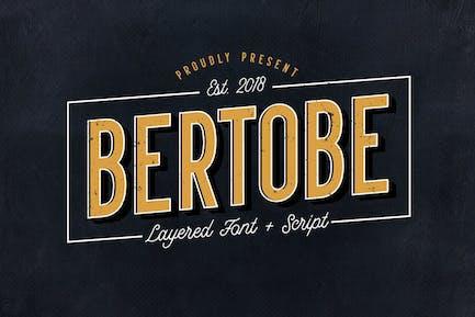 Bertobe - Layered Font