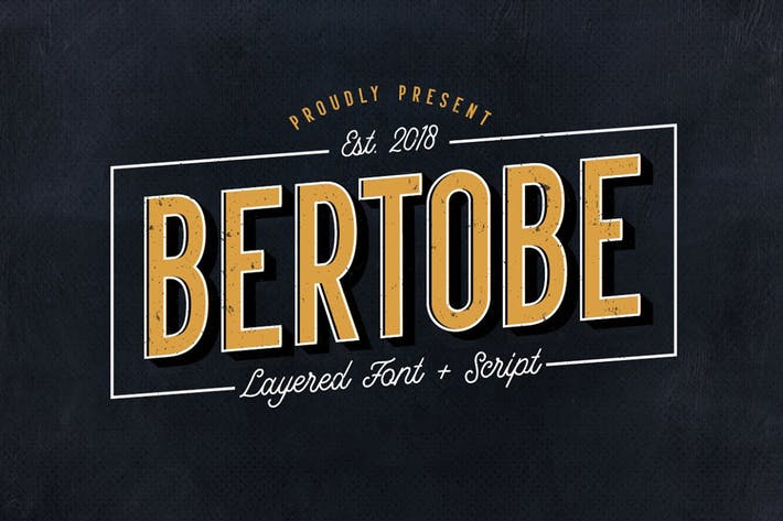 Thumbnail for Bertobe - Layered Font