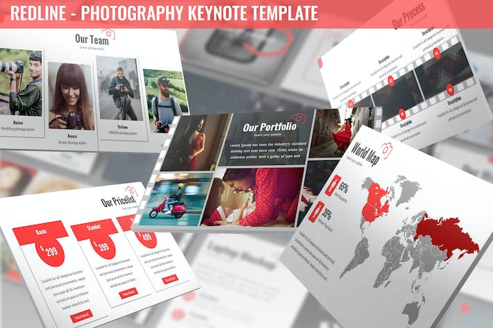 Thumbnail for Redline - Photography Keynote Template