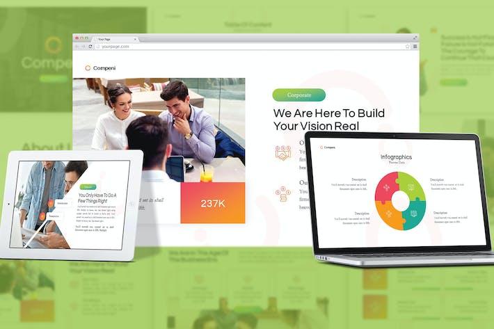 Thumbnail for Compeni - Corporate Profile Google Slides Template
