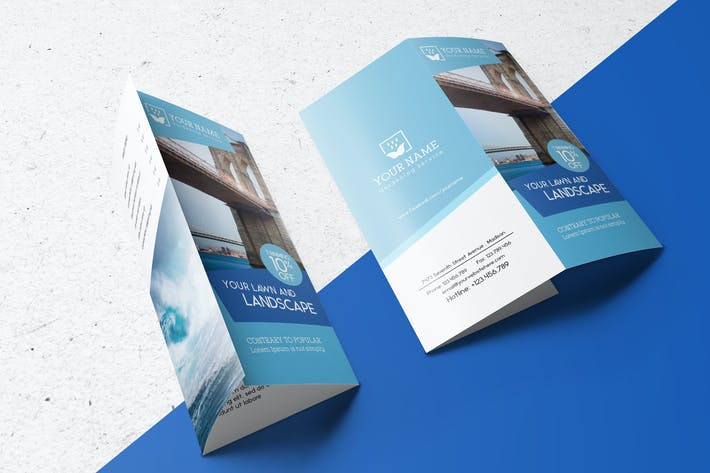 Thumbnail for US Letter | Tri-Fold Brochure Mock-up
