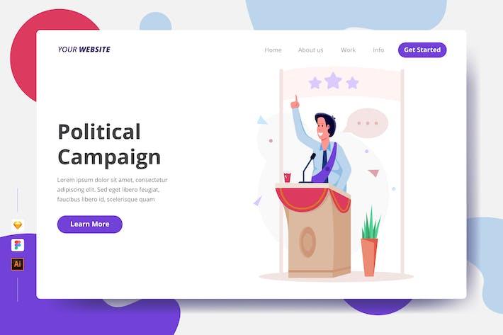 Thumbnail for Politische Kampagne - Zielseite