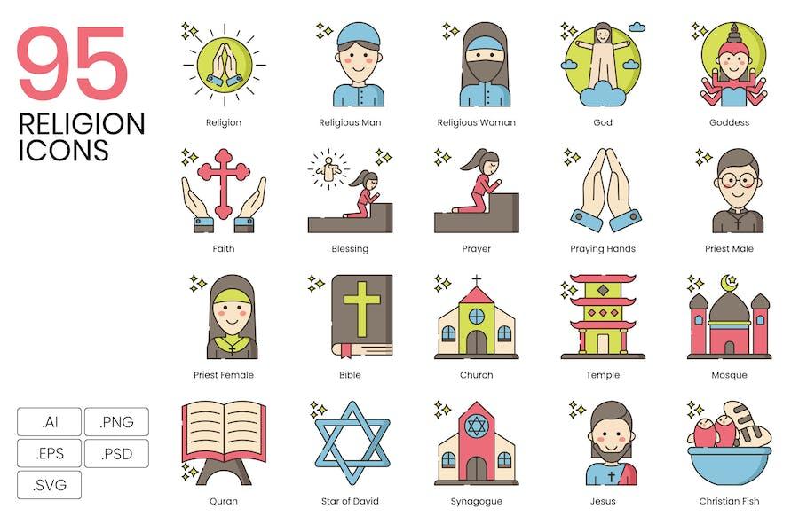 95 Religions-Symbole - Hazel-Serie