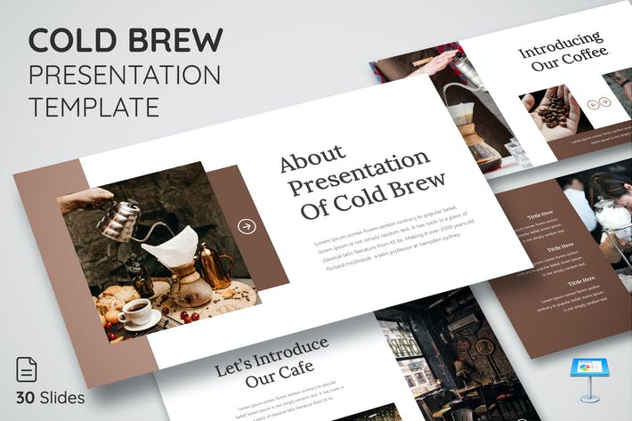 Thumbnail for Cold Brew - Keynote Presentation Template
