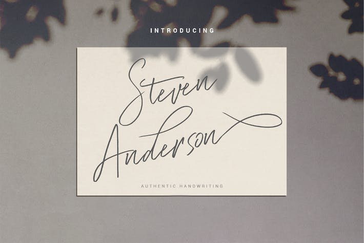 Thumbnail for Steven Anderson - Handwriting Font
