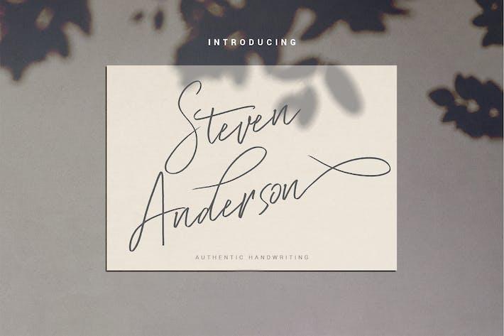 Thumbnail for Steven Anderson - Fuente de escritura a mano