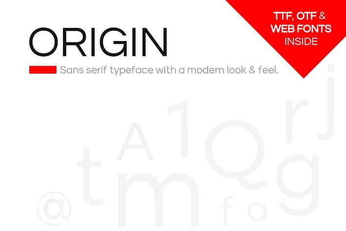 Thumbnail for ORIGIN - Modern Sans-Serif Typeface + Web Fonts