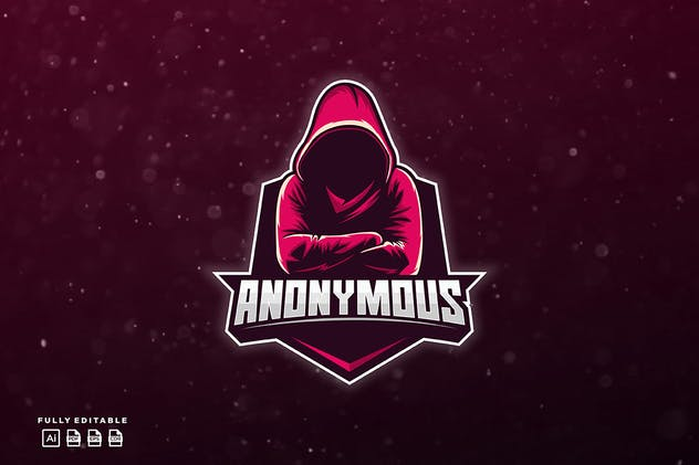 Anonymous Gaming Logo Template
