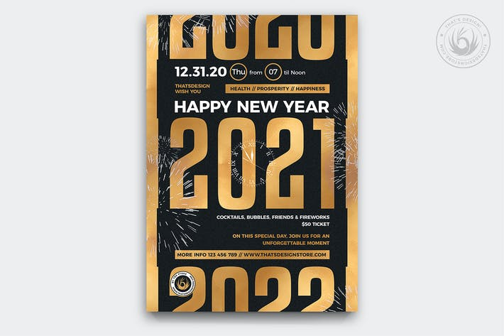 Thumbnail for New Year Flyer Template V11