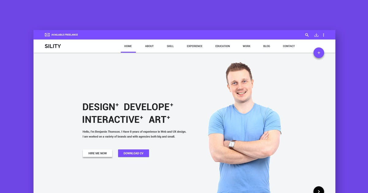 Download Sility - vCard, CV & Resume HTML Template by WPmines