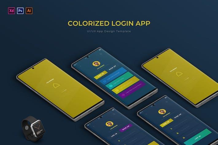 Colorized Login | App Design Template