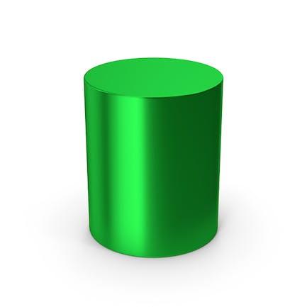 Zylinder Grün Metallic