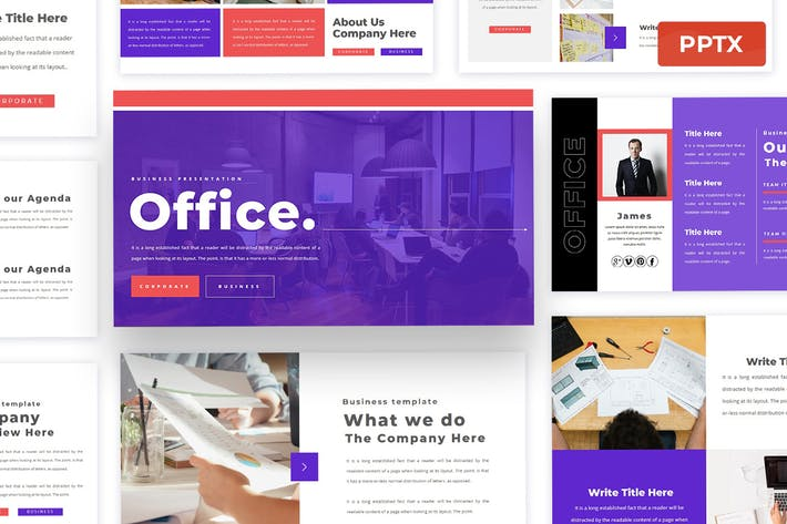 Office - Business Powerpoint Presentation Template