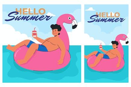 Hallo Sommer-Illustration