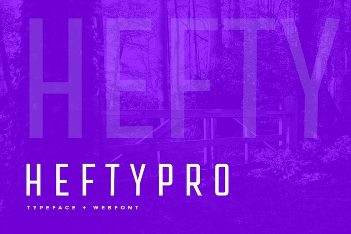 Thumbnail for Hefty Pro Display Typeface + WebFont