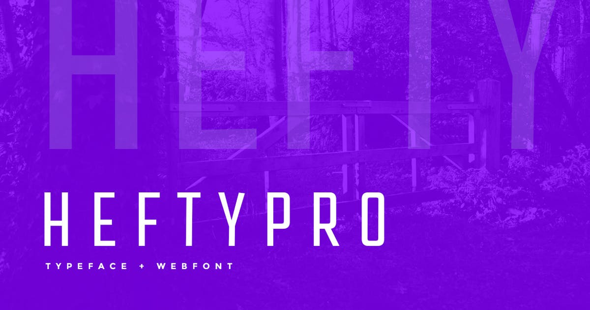 Download Hefty Pro Display Typeface + WebFont by webhance