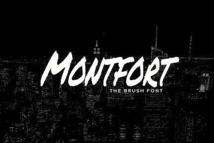 MONTFORT - Custom Handmade Brush Font