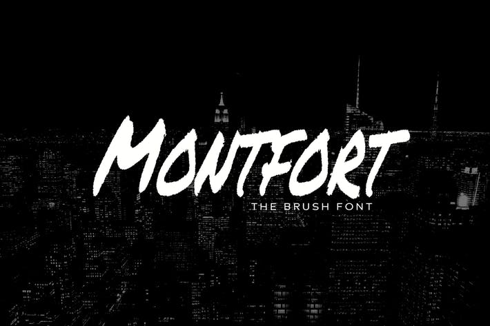 Thumbnail for MONTFORT - Custom Handmade Brush Font